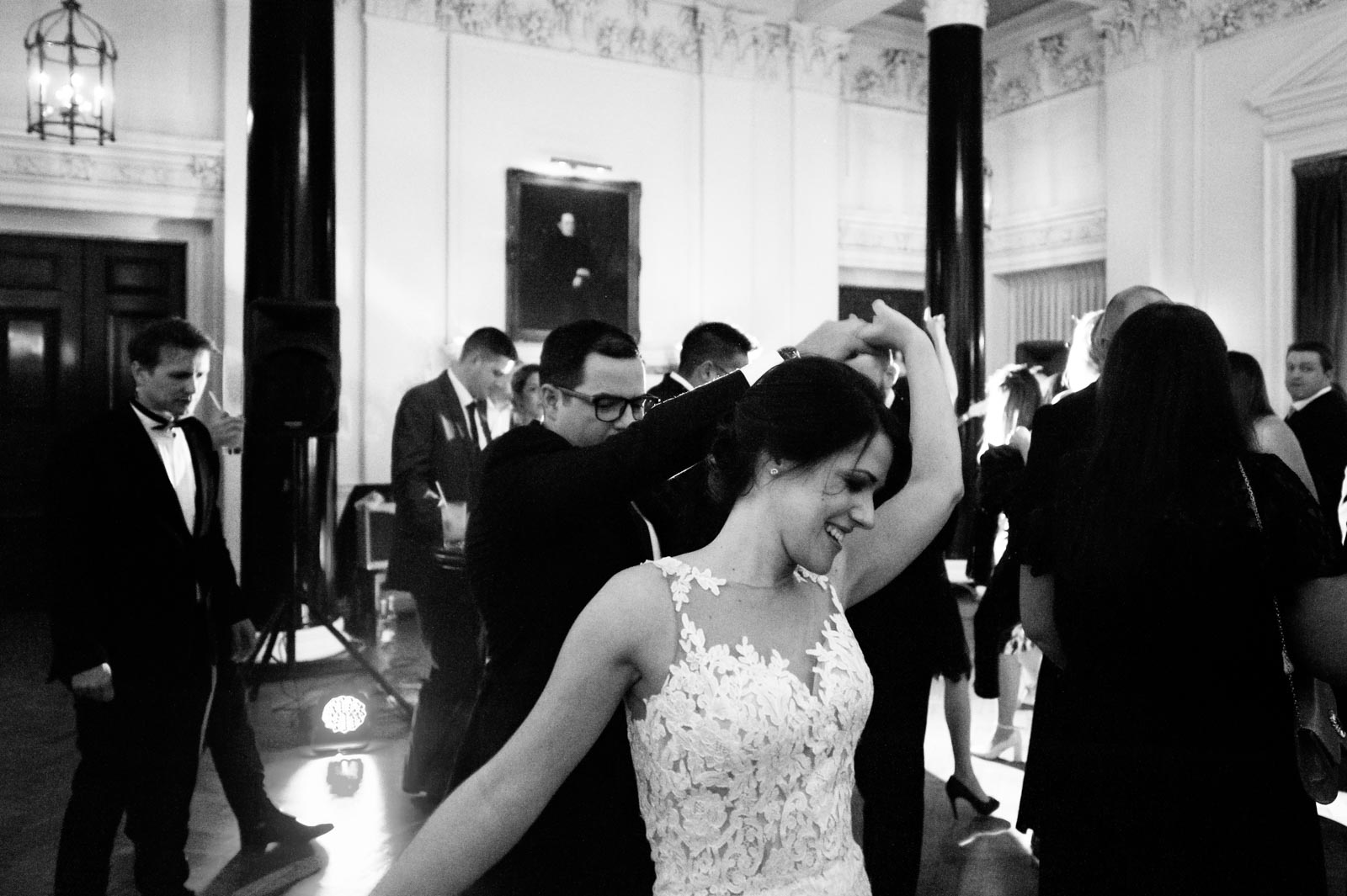 Bride and groom dancing at their Wedding at the Ned London