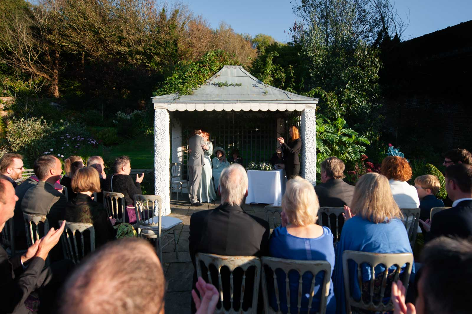 Outdoor wedding ceremony at the Old Rectory