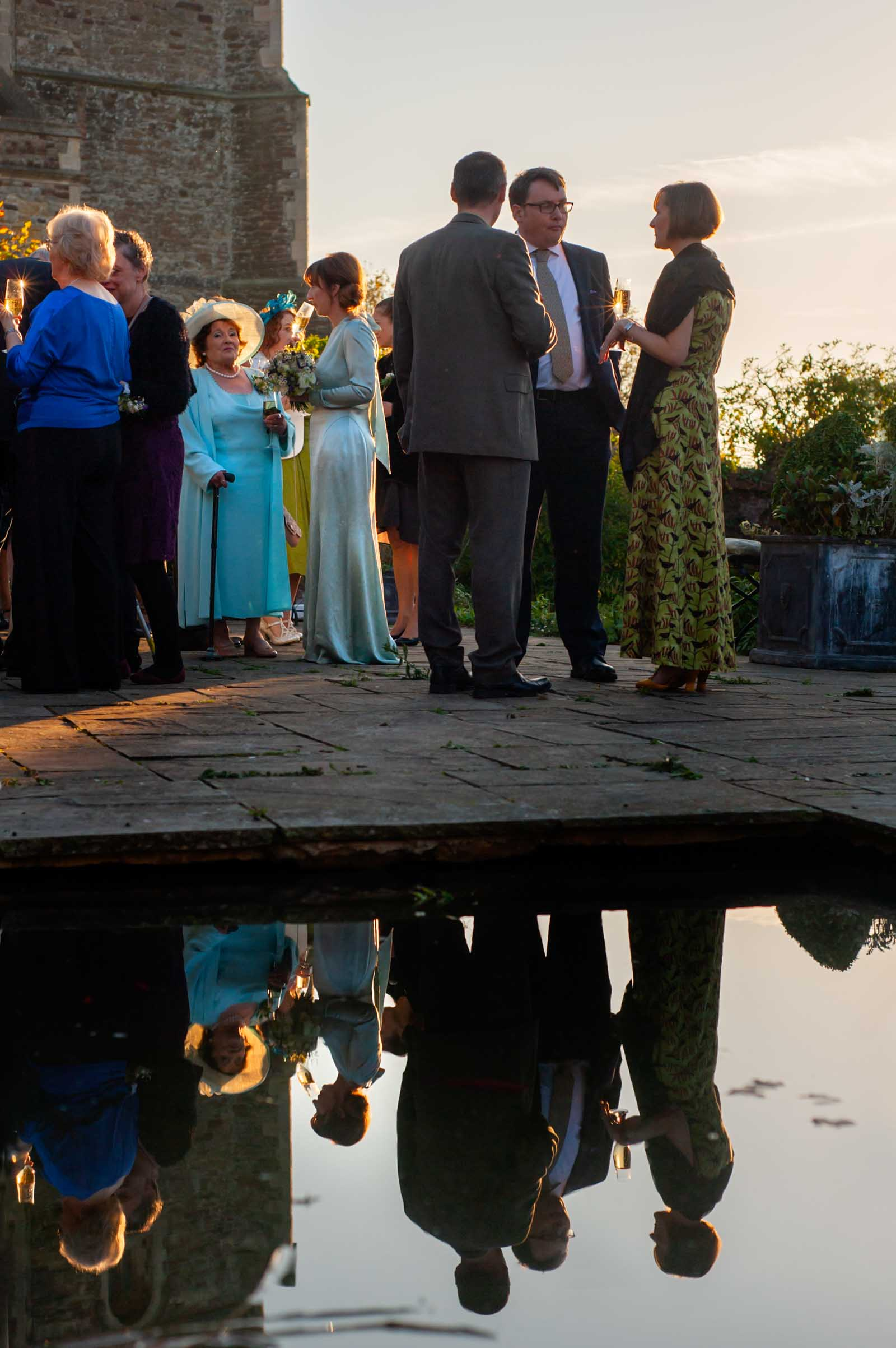 Outdoor wedding reception at the Old Rectory